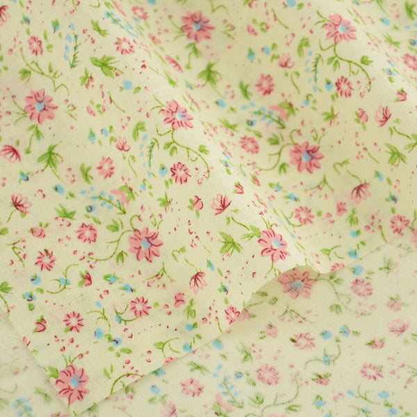 100% Cotton Fabric Patchwork Lovely Flowers Designs Clothing Crafts Dolls Decoration Home Textile