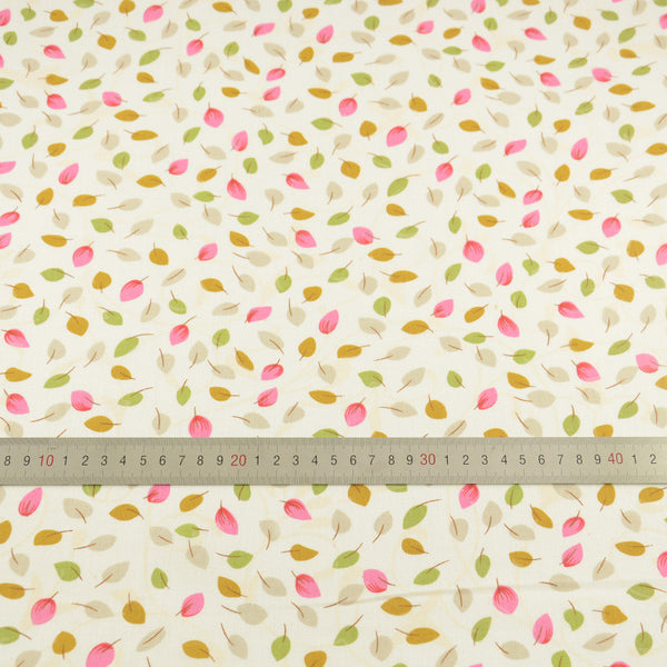 Lovely Leaf Design 100% Cotton Fabric Patchwork Light Yellow Cloor Sewing Plain Cloth Textile