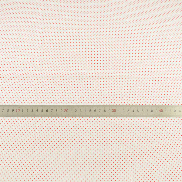 Cotton Fabric White Little Red Dot Design Patchwork Cloth Dolls Textile Telas Tecido Tissue Sewing