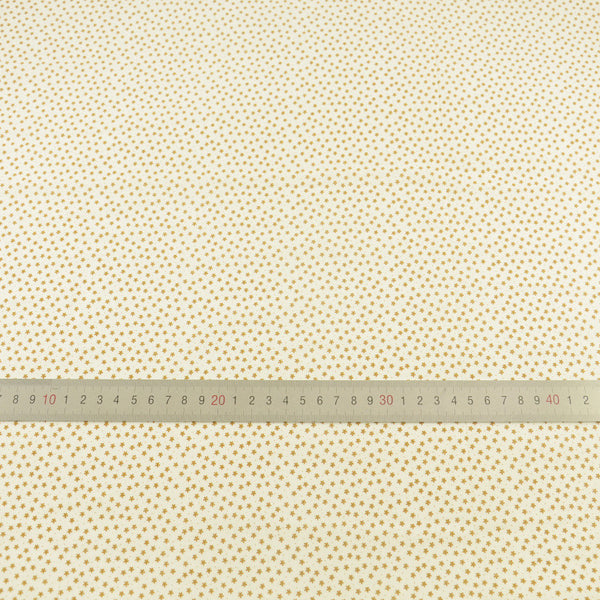 Meter Fabric Small Brown Flowers Design Patchwork Fat Quarter Cotton Fabric Light Yellow