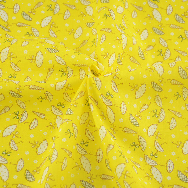 Home Textile New Arrivals Printed Lovely Umbrella Design Cotton Fabric Yellow Patchwork