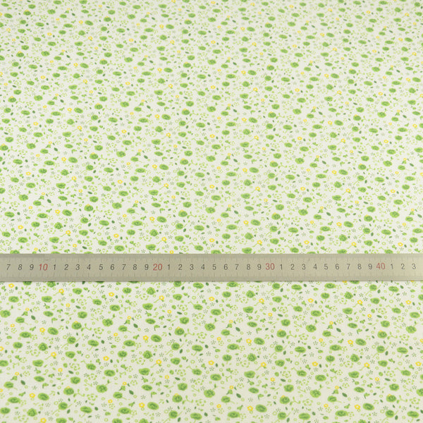 100% Plain Cotton Fabrics Patchwork Green And Yellow Flower Design Tilda Cloth Tecido Tissue