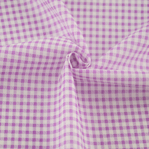 Purple And White Check Style 100% Cotton Fabric Art Work Tecido For Doll's DIY Crafts Patchwork