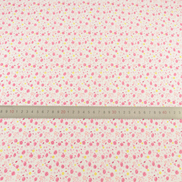 Pink Flowers Style 100% Plain Cotton Fabric Fat Quarter Tissue Patchwork Home Textile