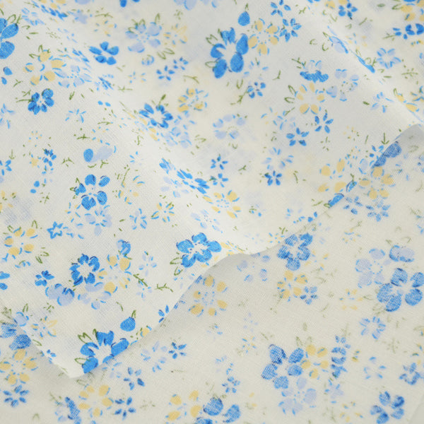 Patchwork 100% Cotton Fabrics Crafts Little Blue Flowers Design Fat Quarter Telas Sewing Tissue