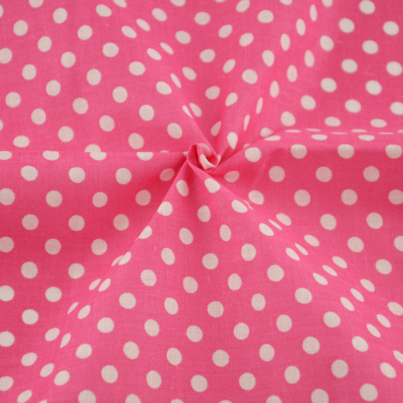 Cotton Fabrics Printed White Dots Designs Rose Pink Tila Tecidos Art Work Crafts Dolls Clothes