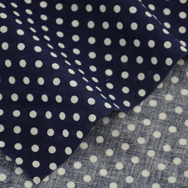 Blue Cotton Fabric Patchwork White Dots Design Fabrics Clothing Doll Home Textile Scrapbooking