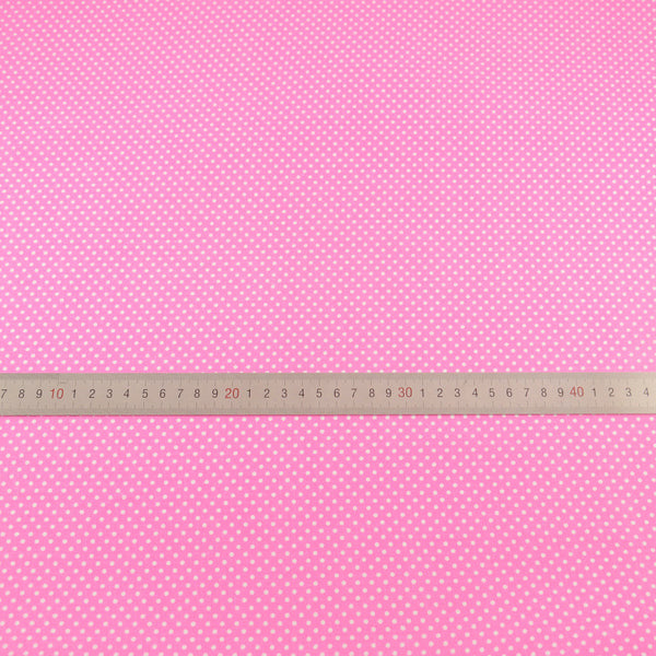 100% Cotton Fabric Patchwork Home Textile Cloth Pink Color White Dots Designs Tecido Tilda