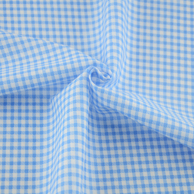 100% Cotton Plain Fabric Patchwork Tissue Tecido Home Textile Blue And White Check Style