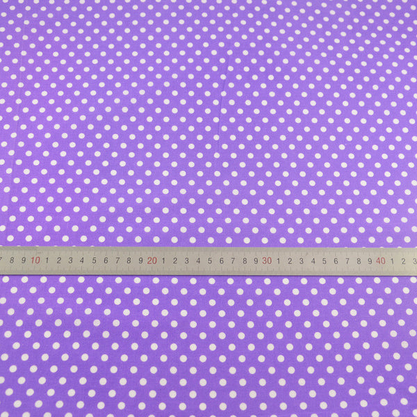 Little White Dots Designs Purple Cotton Fabric Pre-cut Fat Quarter Tecido Tissu Telas Patchwork