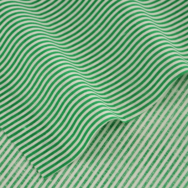 100% Cotton Plain Fabric Patchwork Green And White Stripe Design Doll's DIY Decoration Clothing