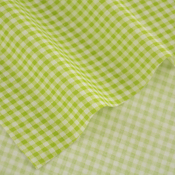 New Arrivals Art Work Patchwork 100% Cotton Plain Fabrics Green And White Check Designs