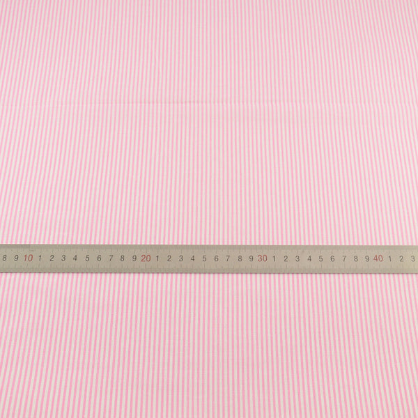 Cotton Fabrics Sewing Pink and White Stripes Designs Printed Home Textile for Doll Crafts Clothing