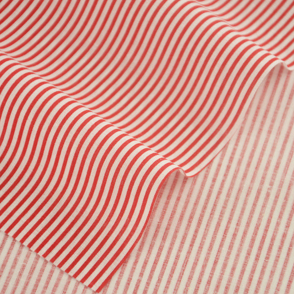 Art Work 100% Cotton Fabrics Printed Red and White Strips Designs Fat Quarter Crafts Home Textile