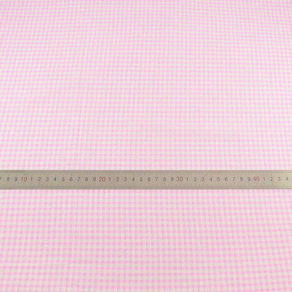 Light White and Pink Check Designs for Doll's Clothes Art Work Patchwork 100% Cotton Fabric