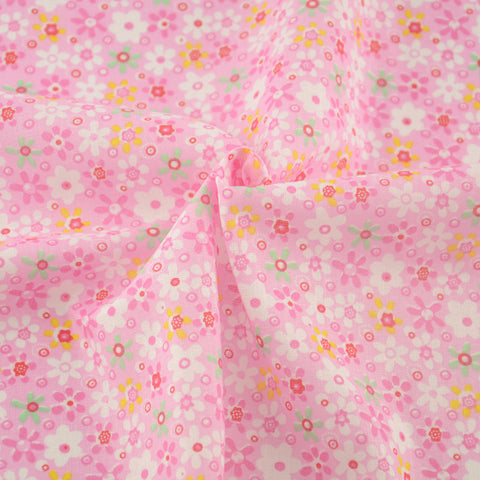 100% Cotton Fabrics Pink Little Flower Style Sewing Tissue Patchwork Fabric Home Textile Crafts