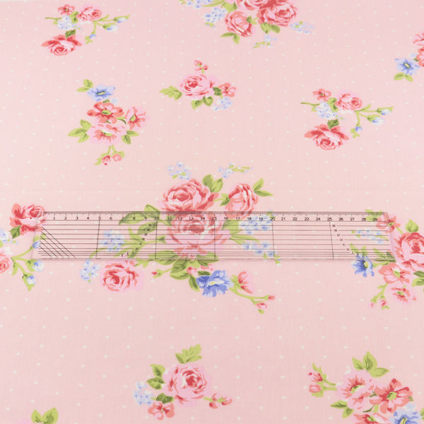 Sewing Home Textile Twill Cloth 100% Cotton Fabric Twill Cloth Pink Printed Floral Designs