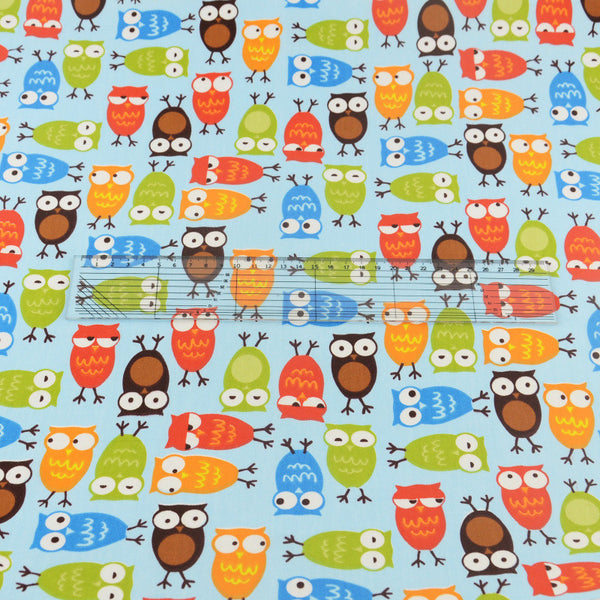 Blue Owl Cotton Twill Fabric Teramila Home Textile Sewing Bedding Quilting Clothing Craft