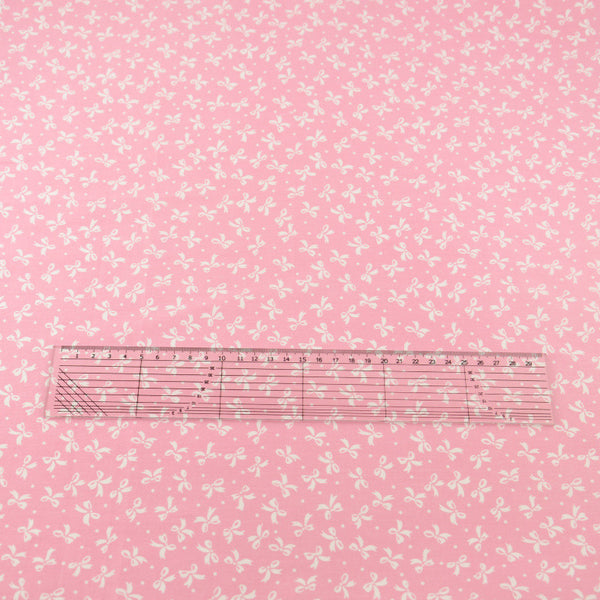 Pink Bow Cotton Twill Fabric Teramila Home Textile Sewing Bedding Quilting Clothing Craft
