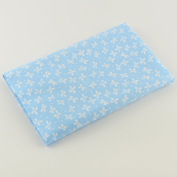 Blue Bow Cotton Twill Fabric Teramila Home Textile Sewing Bedding Quilting Clothing Craft