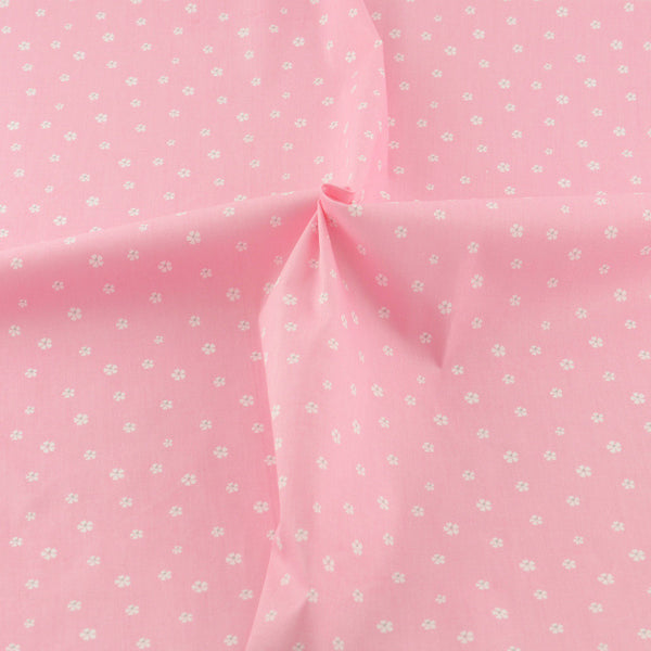 Pink Cotton Twill Fabric Teramila Home Textile Sewing Bedding Quilting Clothing Craft