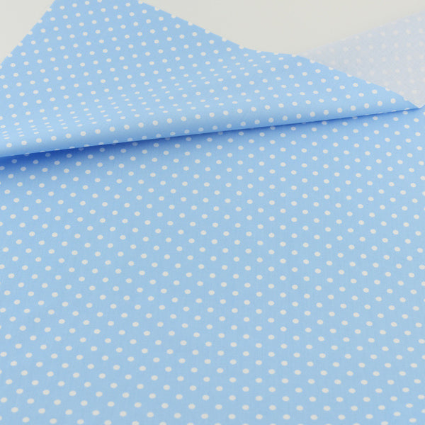 Blue Dot Cotton Twill Fabric Teramila Home Textile Sewing Bedding Quilting Clothing Craft