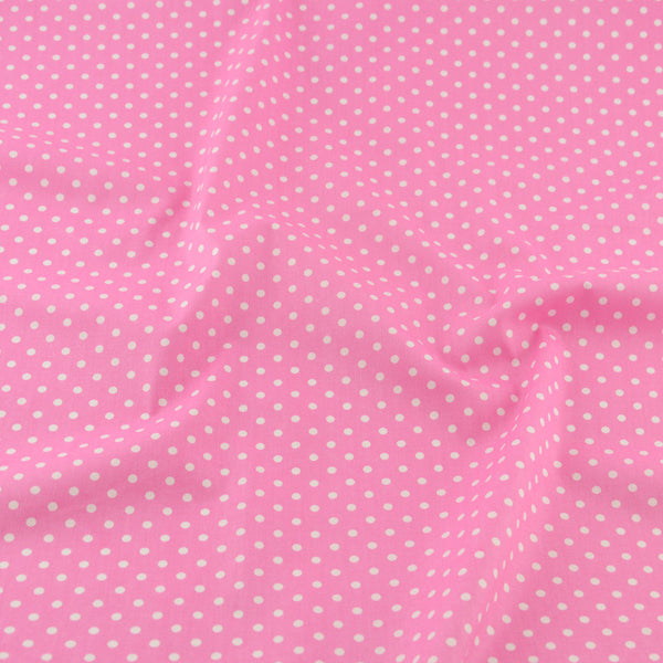 Pink Dot Cotton Twill Fabric Teramila Home Textile Sewing Bedding Quilting Clothing Craft