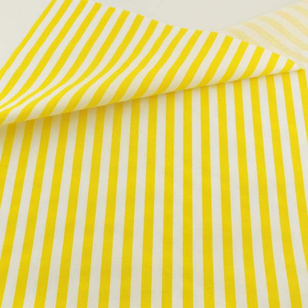 Yellow Stripe Cotton Twill Fabric Teramila Home Textile Sewing Bedding Quilting Clothing Craft
