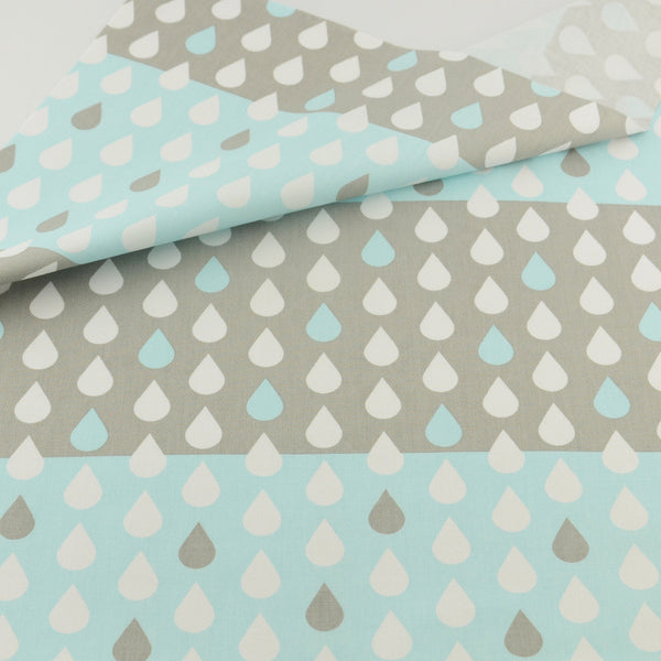 Blue Rain Cotton Twill Fabric Teramila Home Textile Sewing Bedding Quilting Clothing Craft