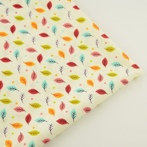 Leaf Cotton Twill Fabric Teramila Home Textile Sewing Bedding Quilting Clothing Craft