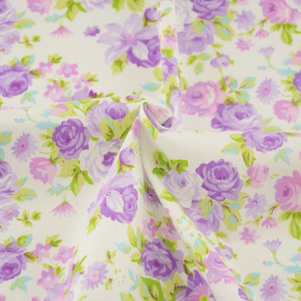 Copy of Flower Cotton Twill Fabric Teramila Home Textile Sewing Bedding Quilting Clothing Craft