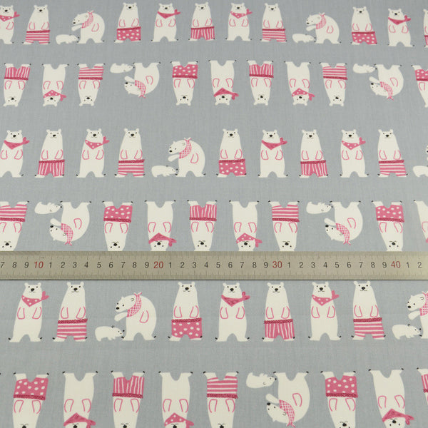 Bear Cotton Twill Fabric Teramila Home Textile Sewing Bedding Quilting Clothing Craft