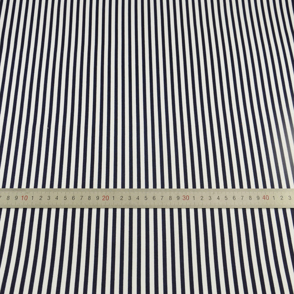 Black Stripe Cotton Twill Fabric Teramila Home Textile Sewing Bedding Quilting Clothing Craft