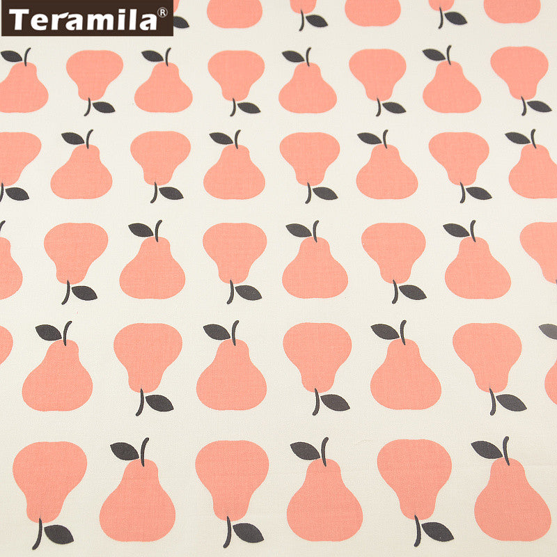 Orange Pears Designs Cotton Fabric Twill Tela  Patchwork Home Textile Quilting Sewing