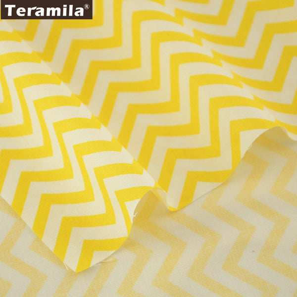 Yellow Waves Designs 100% Cotton Fabric Twill Fat Quarter Home Textile Material Decoration