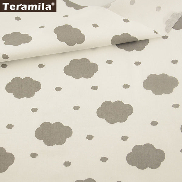 100% Cotton Fabric  Printed Dark Clouds Designs Twill Fat Quarter Home Textile Material