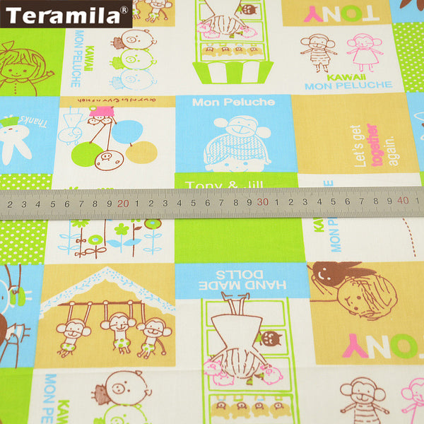 100% Cotton Fabric Twill Cartoon Designs Tecido For Bedding Clothing Baby Quilting Sewing