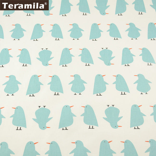 Home Textile Material Bed Sheet  Patchwork Lovely Penguin Designs 100% Cotton