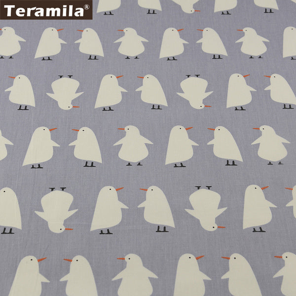 Cotton Fabric Penguin Designs Home Textile Patchwork Bedding Clothing Baby Quilting