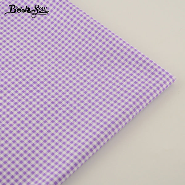 Purple Checks Design 100%  Cotton Fabric Home Textile Material Bed Sheet Patchwork