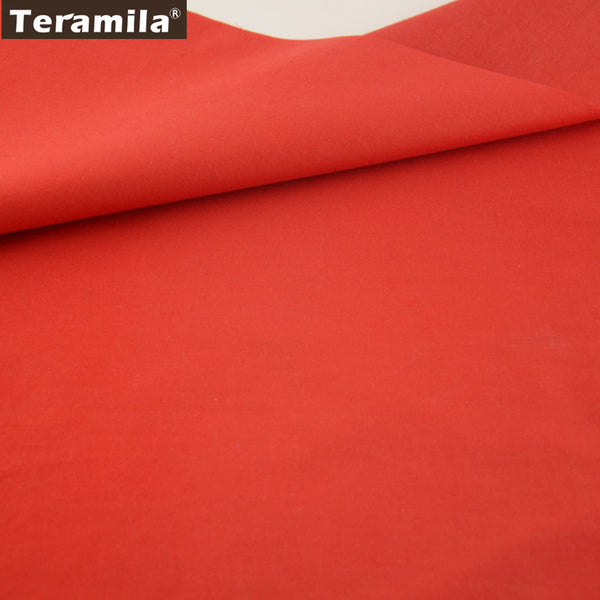Classic Red Solid Color Cotton Fabric Fat Quarter Home Textile Material Bed Sheet Patchwork