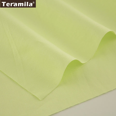 Solid Light Green Color Designs Twill Home Textile Material Bed Sheet  Patchwork Quilting