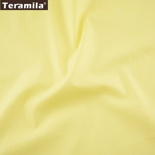 Light Yellow Solid Color  Cotton Fabric Home Textile Material Decoration Clothing