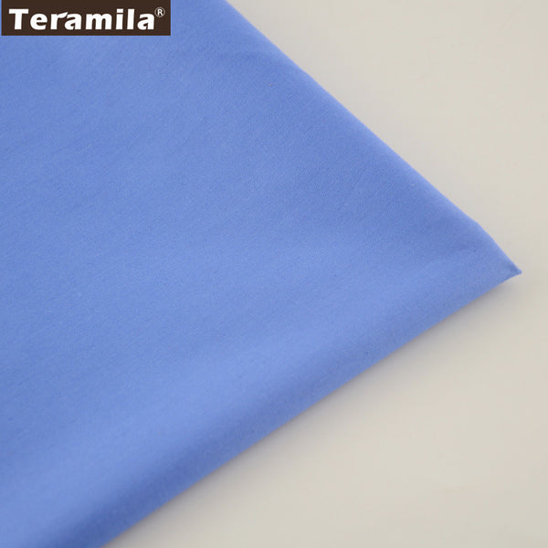 Home Textile Material Qulting Bed Sheet Patchwork Cotton Fabric Classic Solid Blue Color
