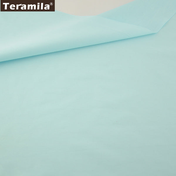 Solid Sky Blue Color  Twill Tecido Crafts Quilting Home Textile Material Bed Sheet Patchwork
