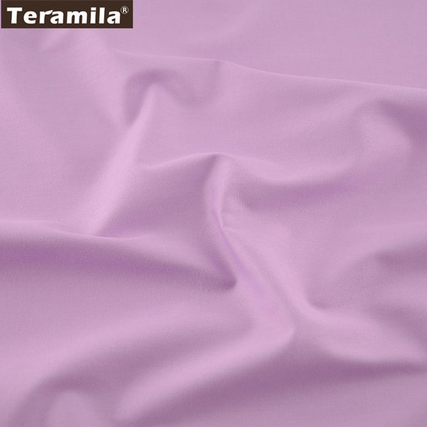 Home Textile Material Qulting Sewing 100% Cotton Fabric Classic Solid Light Purple Color