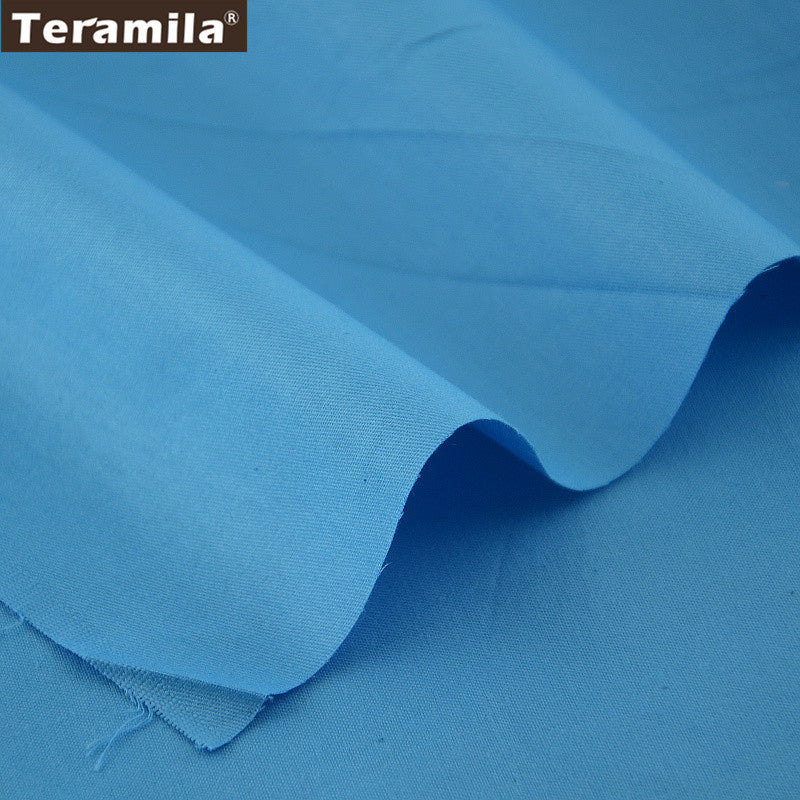 Classic Blue Color Home Textile Material Sewing Cloth Tela Bedding DIY  Baby Doll Crafts