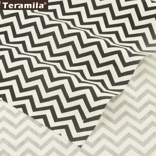Black Wave Cotton Twill Fabric Teramila Home Textile Sewing Bedding Quilting Clothing Craft