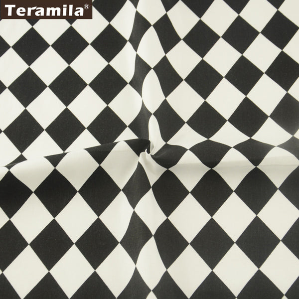 Geometry Square Cotton Twill Fabric Teramila Sewing Bedding Quilting Clothing Accessory