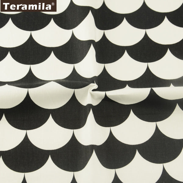 Geometry Cotton Twill Fabric Teramila Home Textile Sewing Bedding Quilting Clothing Craft